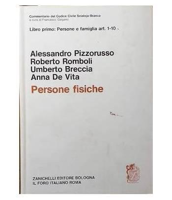 Libro primo: Persone e famiglia art. 1-10 - Persone fisiche