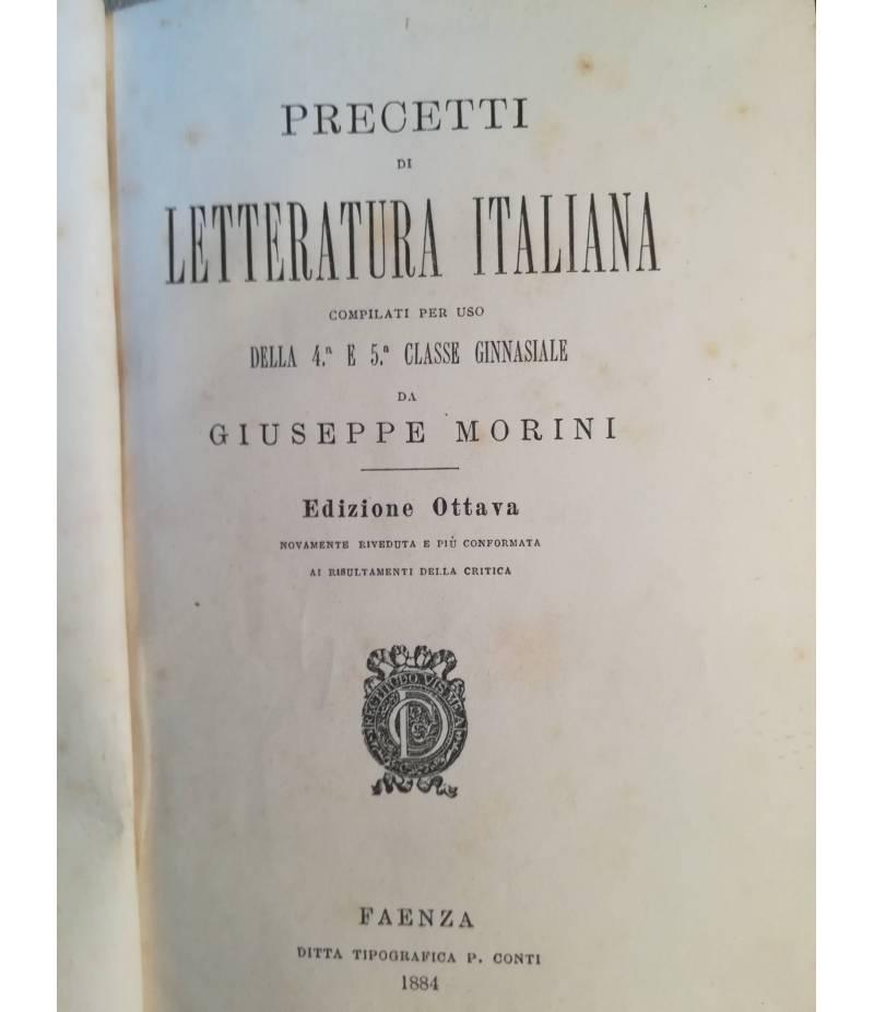 Precetti di letteratura italiana (4a e 5a ginnasiale).