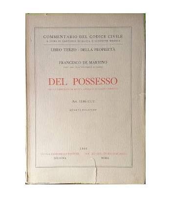 Del Processo. Della denunzia di nuova opera e di danno temuto. Art. 1140-1172