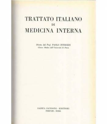 Trattato italiano di medicina interna. Malattie del collageno e dell'apparato locomotore.Patologia dell'età senile