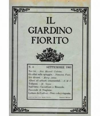 Il giardino fiorito n. 8 Settembre 1931