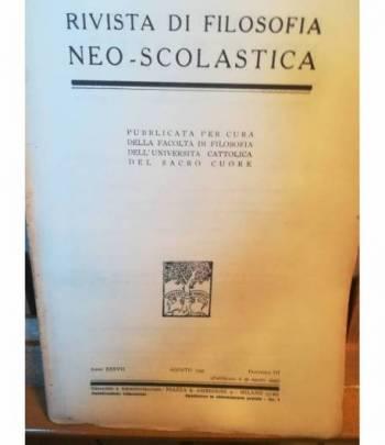 Rivista di filosofia neo-scolastica. Anno XXXVII. Agosto 1945. III.