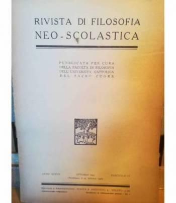 Rivista di filosofia neo-scolastica. Anno XXXVII. Ottobre 1945 (pubbl. 25.2.1946). IV.