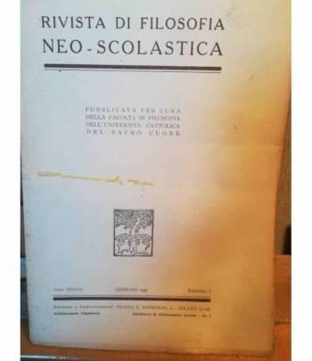 Rivista di filosofia neo-scolastica. Anno XXXVII. Gennaio 1945. I.