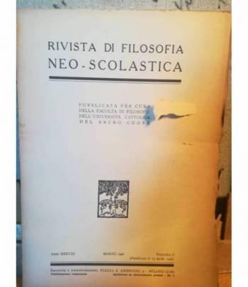 Rivista di filosofia neo-scolastica. Anno XXXVIII. Marzo 1946. I.