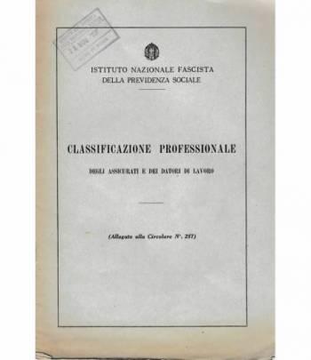 Classificazione Professionale degli assicurati e dei datori di lavoro (allegato alla Circolare n° 257)