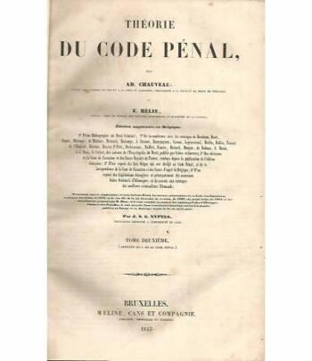 Theorie du code penal. Volume II