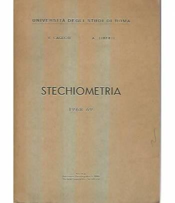 Stechiometria. 1968-69