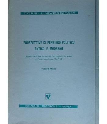 Prospettive di pensiero politico antico e moderno