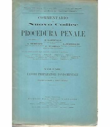 Commentario del nuovo codice di procedura penale. Volume sui lavori preparatori fondamentali. Puntata VIII