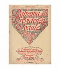 Rassegna della Previdenza Sociale. XVIII. N. 4. Aprile 1931.