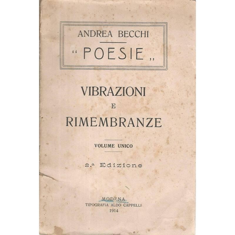 Poesie. Vibrazioni e rimenbranze