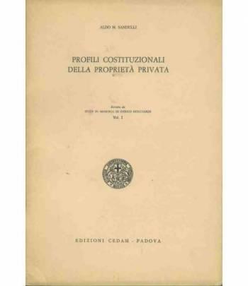Profili costituzionali della proprietà privata. Estratto