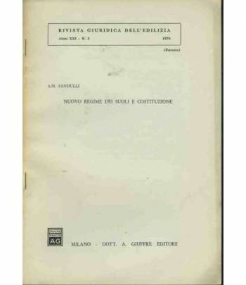 Nuovo regime dei suoli e costituzione. Estratto